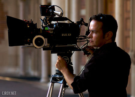Aaron Proctor, director of photography, with Red camera