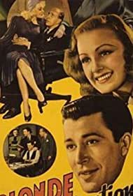 Charles Butterworth, Virginia Grey, Marion Martin, and John Shelton in Blonde Inspiration (1941)