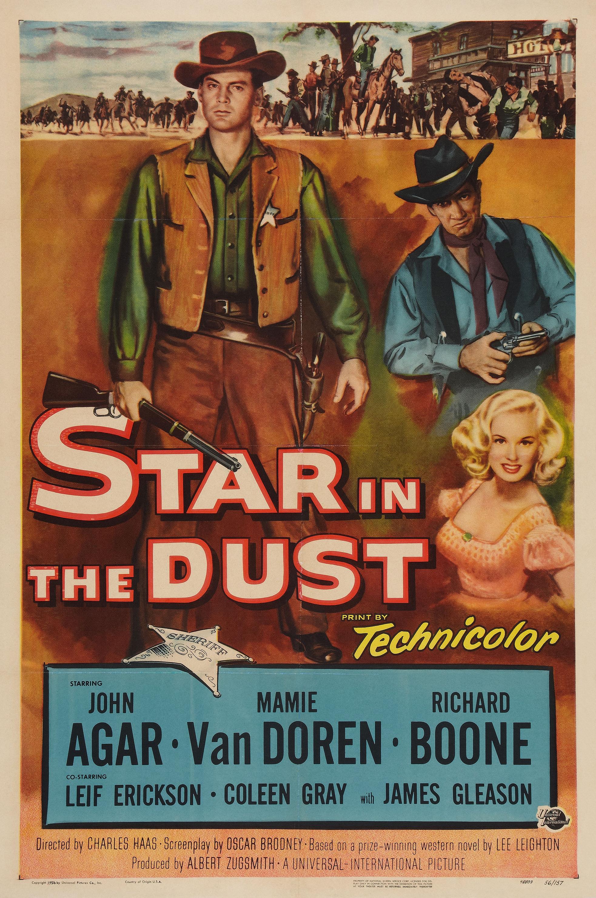John Agar, Richard Boone, and Mamie Van Doren in Star in the Dust (1956)