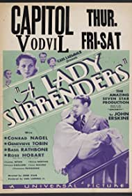 Basil Rathbone, Rose Hobart, Conrad Nagel, and Genevieve Tobin in A Lady Surrenders (1930)