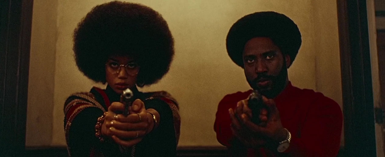 John David Washington and Laura Harrier in BlacKkKlansman (2018)