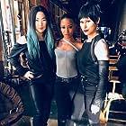 Lori Laing, Jean Tree, Lauren Mary Kim on the set of Iron Fist