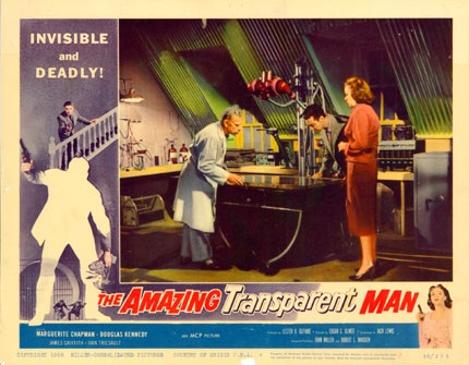 Marguerite Chapman and Ivan Triesault in The Amazing Transparent Man (1960)