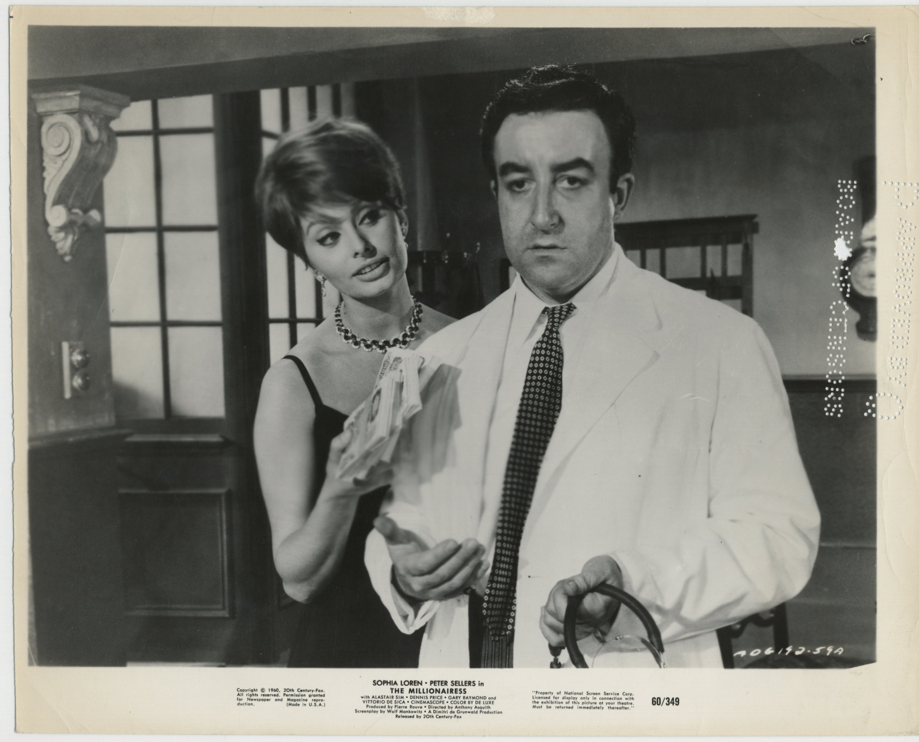 Sophia Loren and Peter Sellers in The Millionairess (1960)
