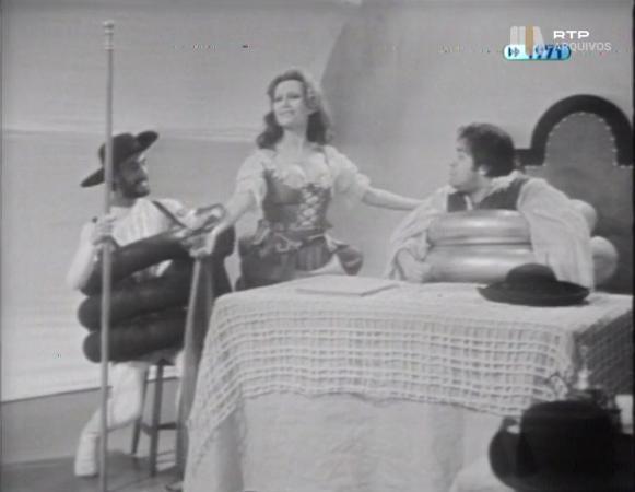 Nicolau Breyner and Adelaide João in A Vida do Grande D. Quixote (1971)