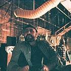 Jason Ensler on the set of Redliners for NBC
