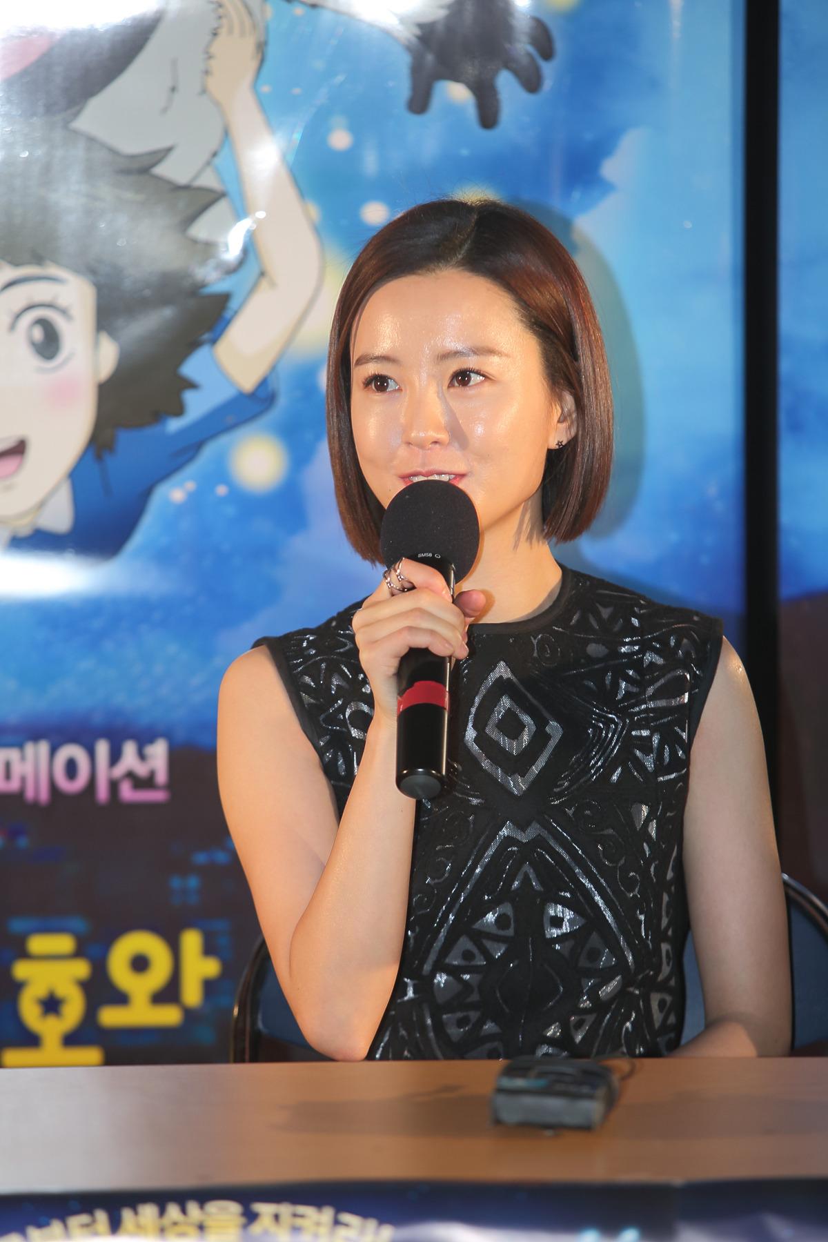 Jung Yu-mi at an event for Uribyeol Ilho-wa Eollukso (2014)