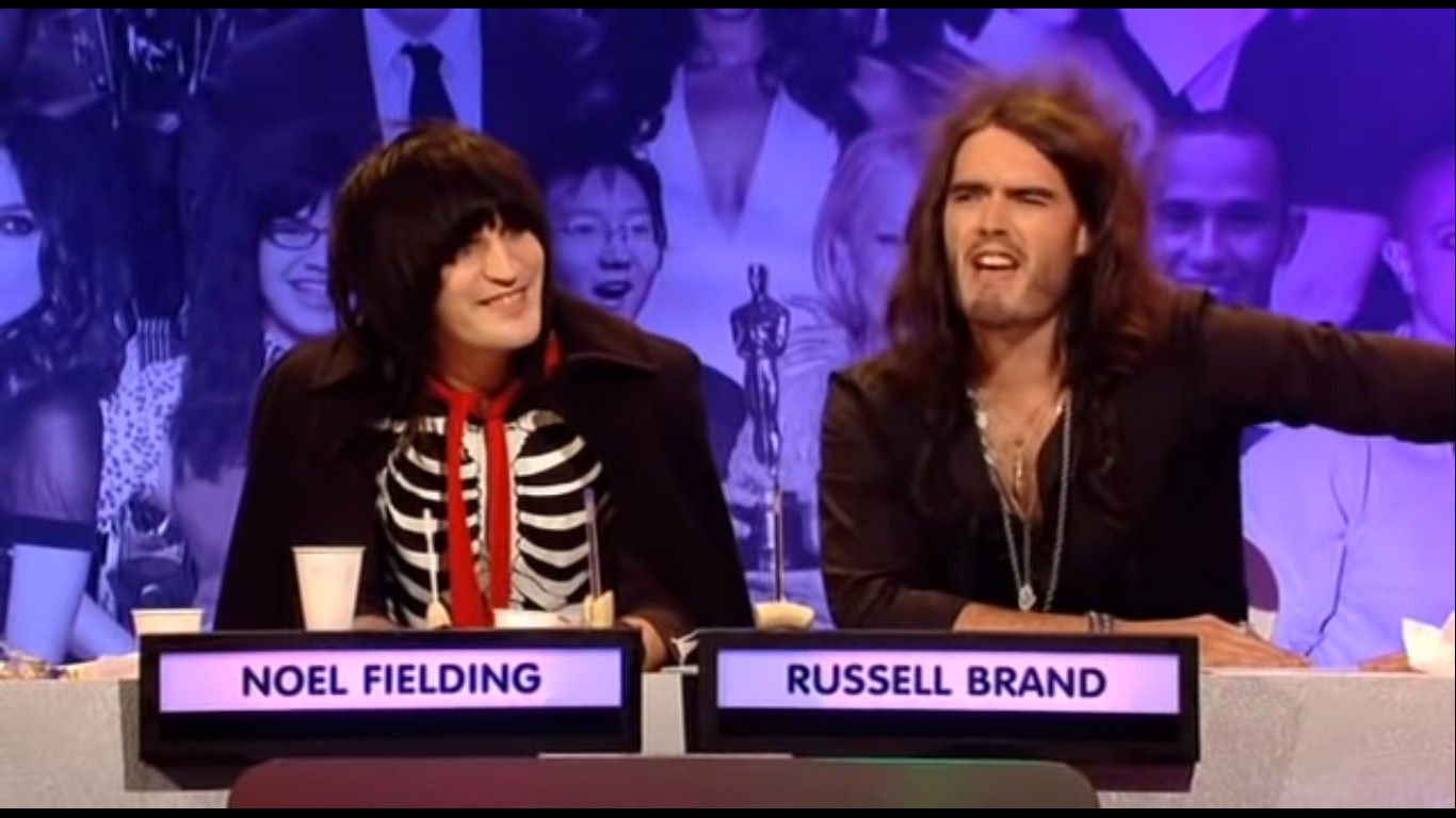 Noel Fielding and Russell Brand in The Big Fat Quiz of the Year (2007)