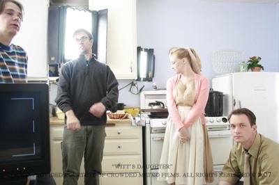 Adam Edgar On set, Witt's Daughter.