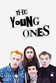 Adrian Edmondson, Rik Mayall, Nigel Planer, and Christopher Ryan in The Young Ones (1982)
