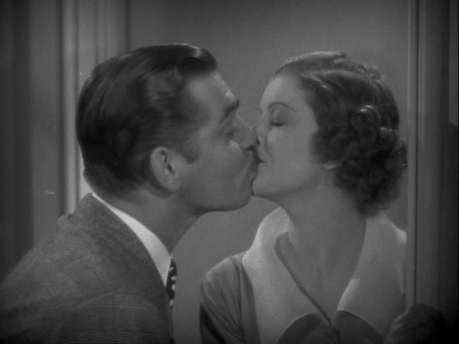 Clark Gable and Myrna Loy in Wife vs. Secretary (1936)