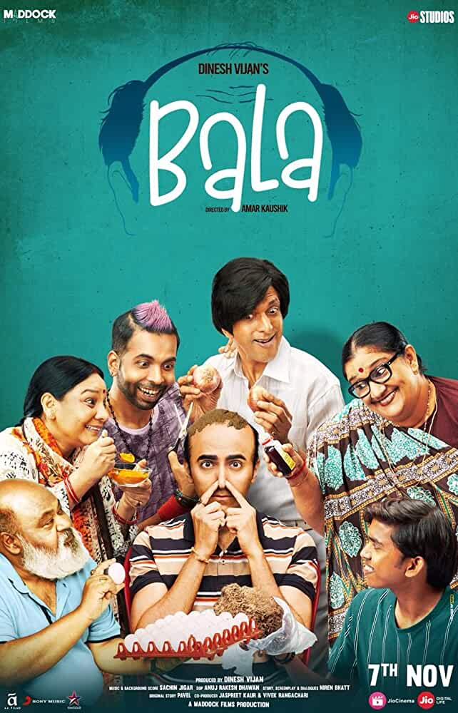 Bala (2019) Hindi Full Movie 720p HDRip [1.1GB]