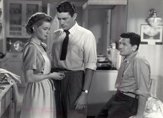 Gregory Peck, John Garfield, and Dorothy McGuire in Gentleman's Agreement (1947)