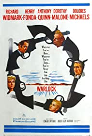 Henry Fonda, Anthony Quinn, Richard Widmark, Dorothy Malone, and Dolores Michaels in Warlock (1959)