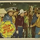 Roy Rogers, Ken Carson, Hugh Farr, Karl Farr, Shug Fisher, William Haade, Bob Nolan, Sons of the Pioneers, Tim Spencer, and Trigger in The Yellow Rose of Texas (1944)