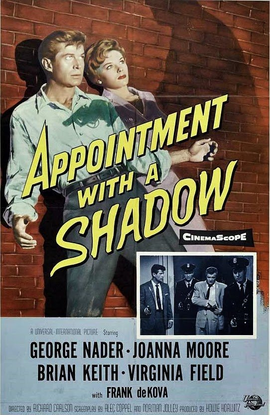 Joanna Moore and George Nader in Appointment with a Shadow (1957)