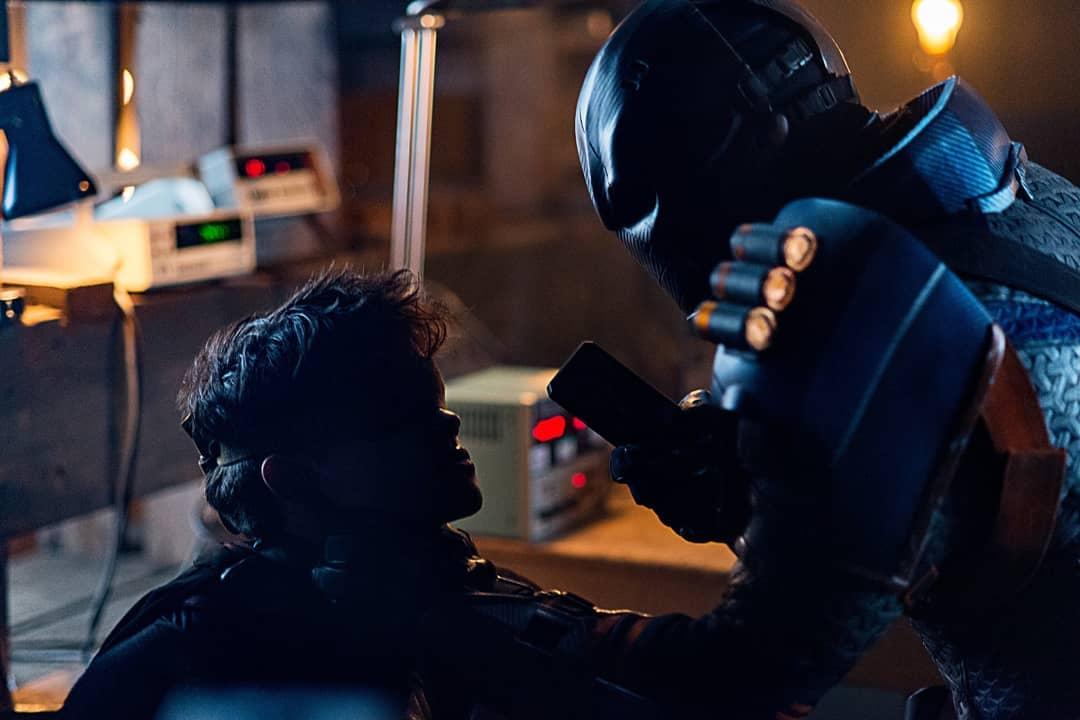 Esai Morales and Curran Walters in Titans (2018)
