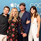Marlee Matlin, Troy Kotsur, Daniel Durant, and Emilia Jones at an event for CODA (2021)