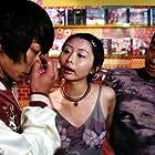 Jordan Chan, Sam Lee, and Angela Ying-Ying Tong in Sang faa sau see (1998)