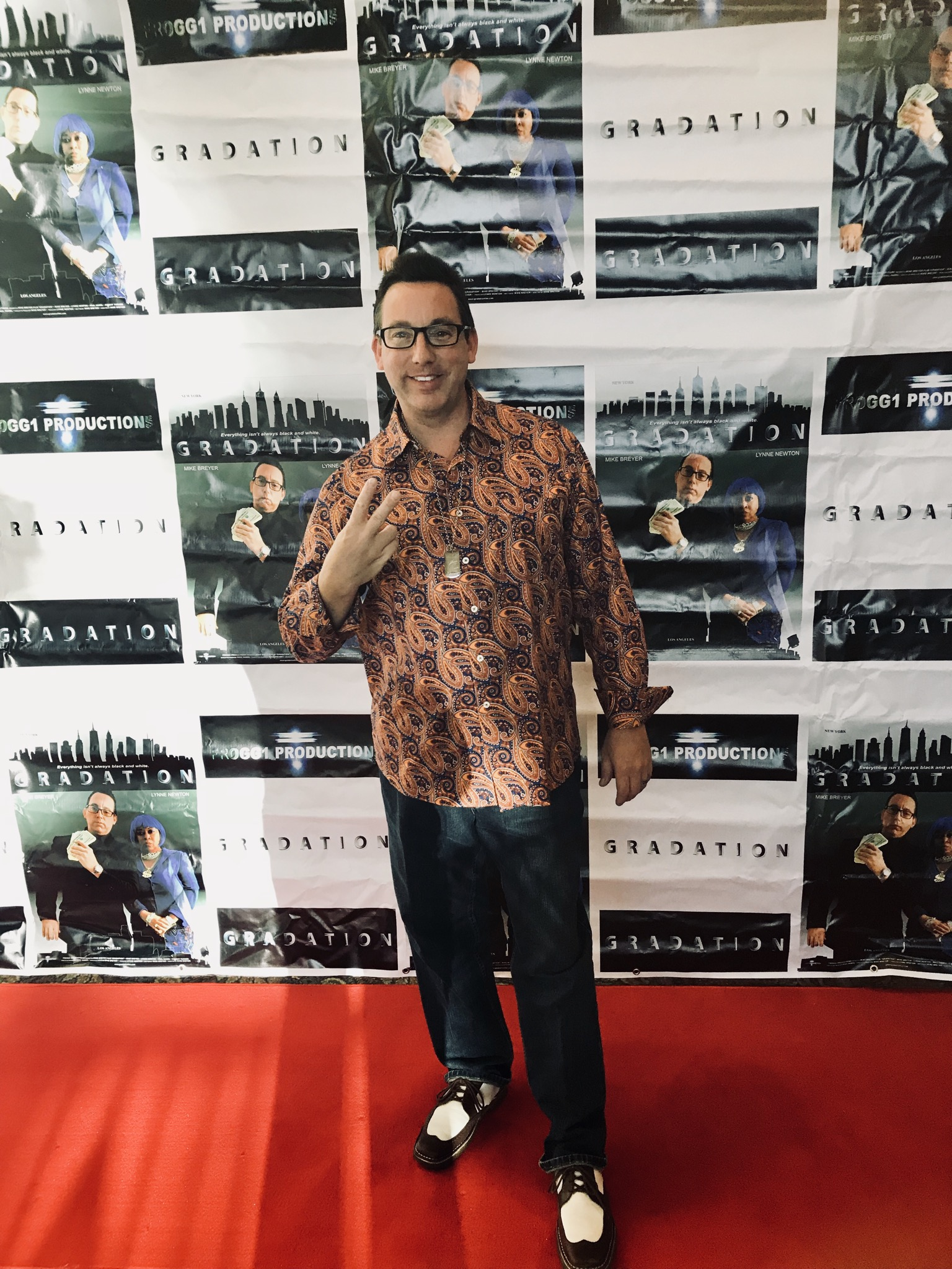 Mike Breyer at the red carpet Premiere of his feature Film Gradation at Mary Pickford Theater in Palm Springs.  October 4, 2018.
