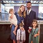 Celine Held, Logan George, Caroline Falk, Brooks Falk, and Sally Falk at an event for Caroline (2018)