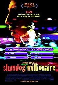 Anil Kapoor, Irrfan Khan, Mia Drake, Shruti Seth, Faezeh Jalali, Dev Patel, and Freida Pinto in Slumdog Millionaire (2008)
