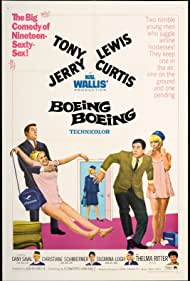 Tony Curtis, Jerry Lewis, Suzanna Leigh, Thelma Ritter, Dany Saval, and Christiane Schmidtmer in Boeing, Boeing (1965)