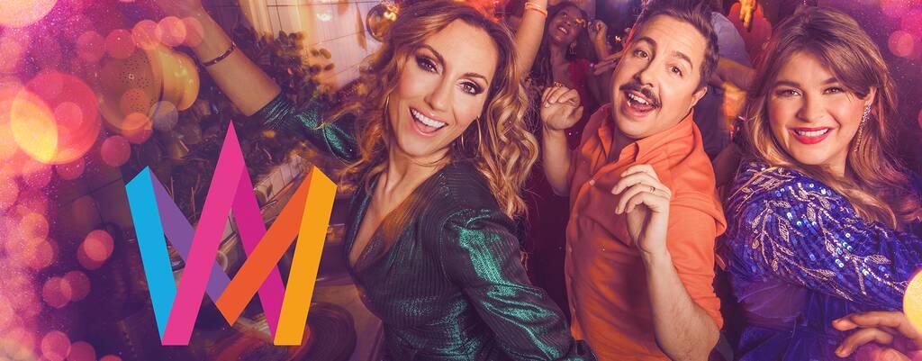 David Sundin, Lina Hedlund, and Linnea Henriksson in Melodifestivalen 2020 (2020)