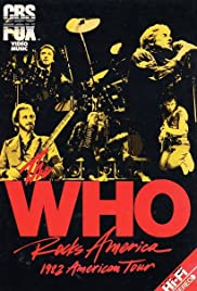 The Who Rocks America 1982 Poster