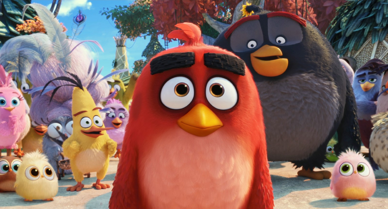 Jason Sudeikis, Danny McBride, and Josh Gad in The Angry Birds Movie 2 (2019)