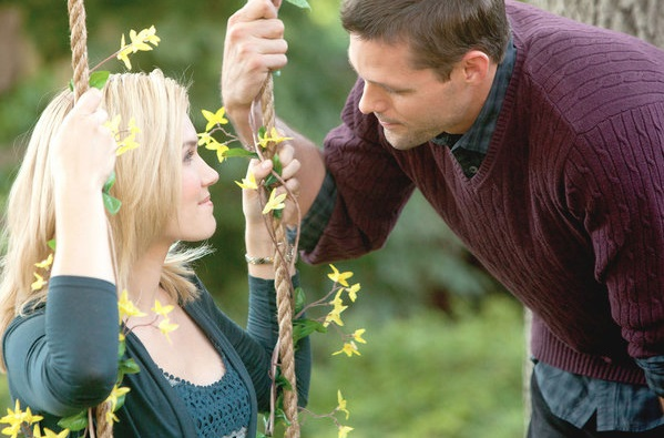 Justin Bruening and Emily Rose in The Thanksgiving House (2013)