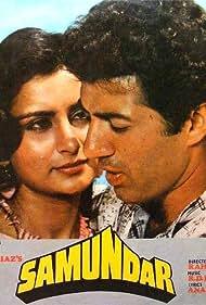 Sunny Deol and Poonam Dhillon in Samundar (1986)