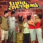 Manuel Moreira, Sandro Silva, Cristovão Campos, Filipa Mendes, and Mafalda Mendes in Uma Aventura (2000)