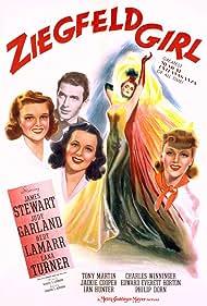 Judy Garland, James Stewart, Hedy Lamarr, and Lana Turner in Ziegfeld Girl (1941)