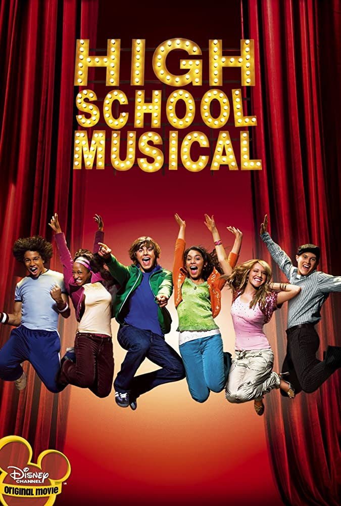 Corbin Bleu, Monique Coleman, Ashley Tisdale, Vanessa Hudgens, Zac Efron, and Lucas Grabeel in High School Musical (2006)