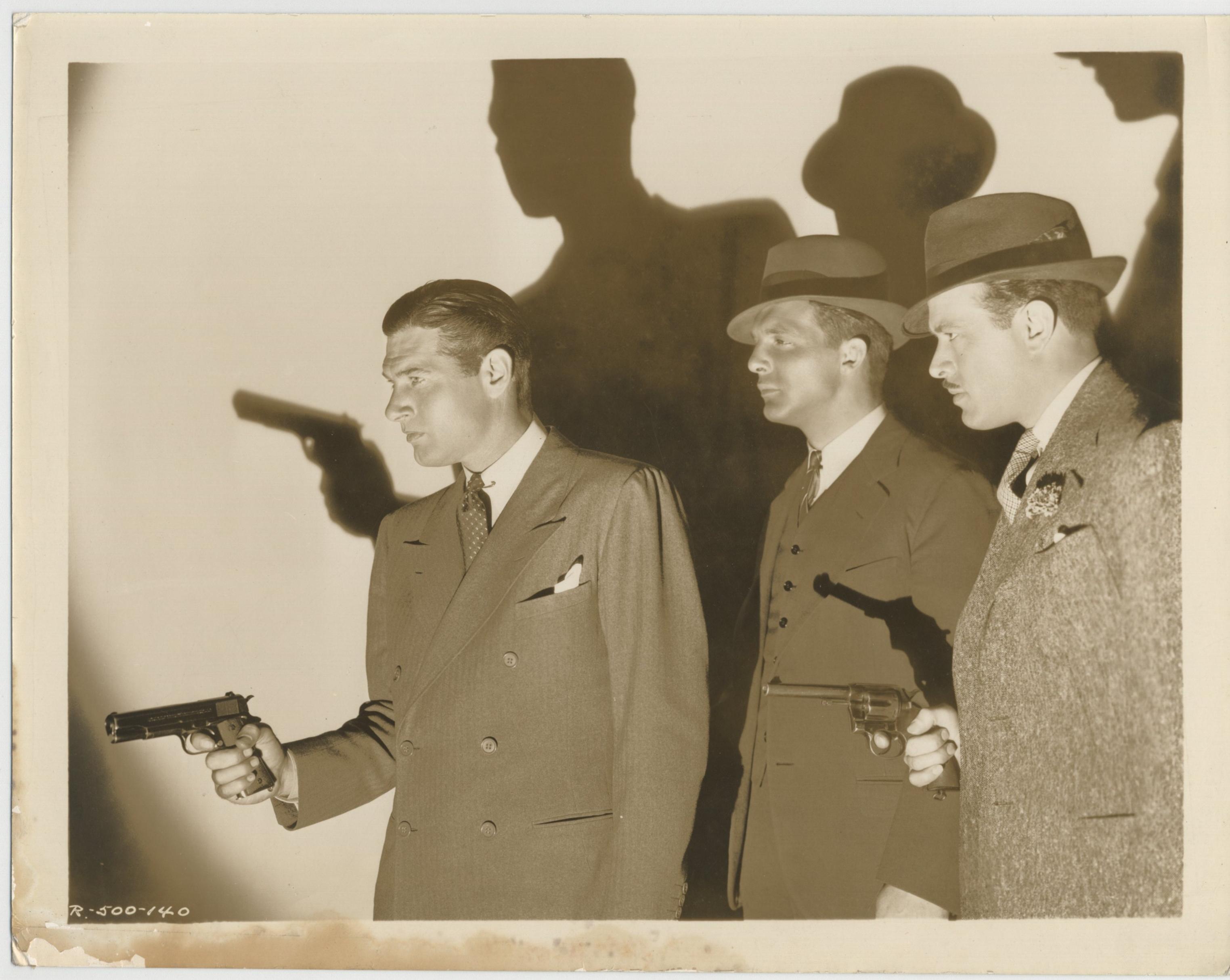 Richard Arlen, Eric Linden, and Harvey Stephens in Let 'em Have It (1935)