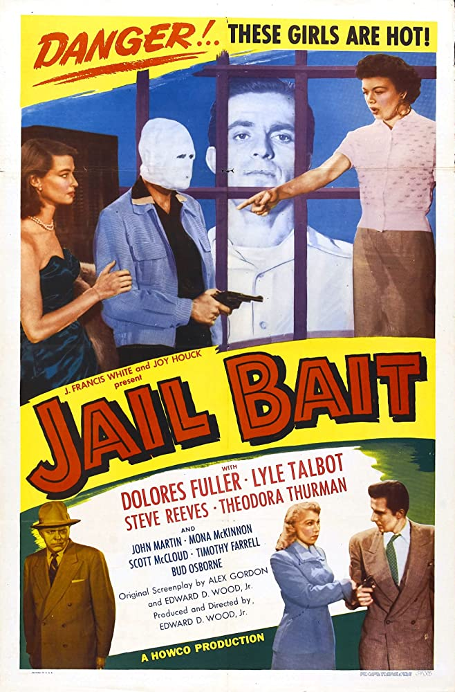 Dolores Fuller, Steve Reeves, Lyle Talbot, and Tedi Thurman in Jail Bait (1954)