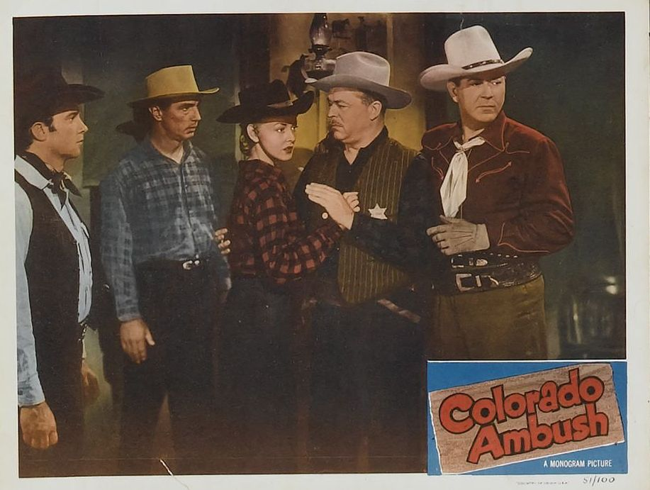Johnny Mack Brown, Lois Hall, and Lyle Talbot in Colorado Ambush (1951)