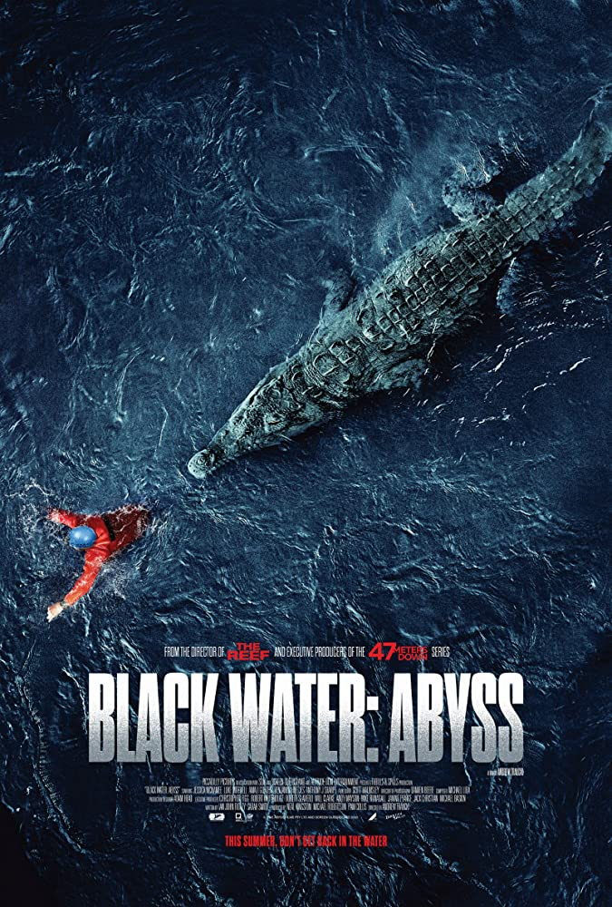 Neal Kingston, Michael Robertson, Luke Mitchell, Amali Golden, Jessica McNamee, Anthony J. Sharpe, and Jack Christian in Black Water: Abyss (2020)