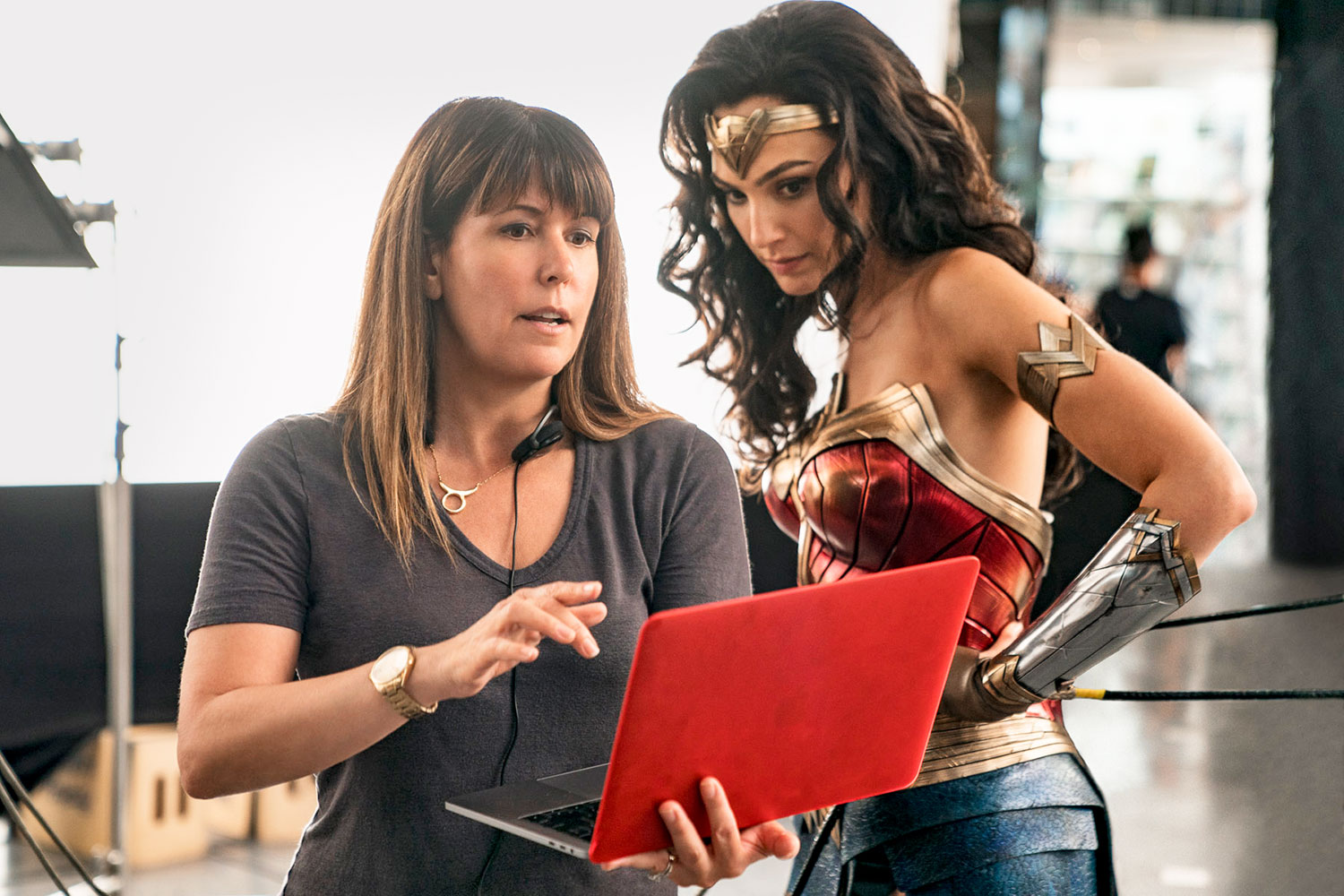 Patty Jenkins and Gal Gadot in Wonder Woman 1984 (2020)