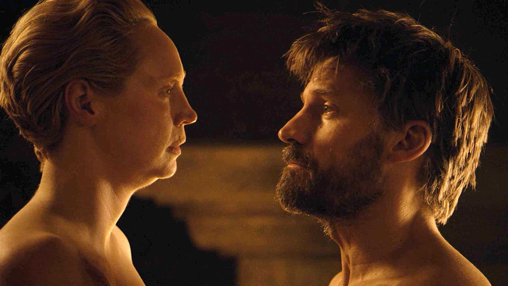 Nikolaj Coster-Waldau and Gwendoline Christie in Game of Thrones (2011)