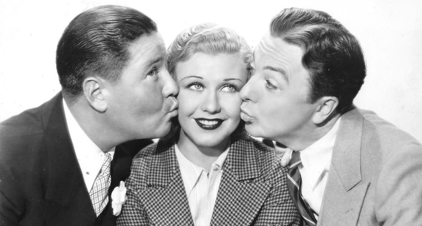 Ginger Rogers, Jack Haley, and Jack Oakie in Sitting Pretty (1933)