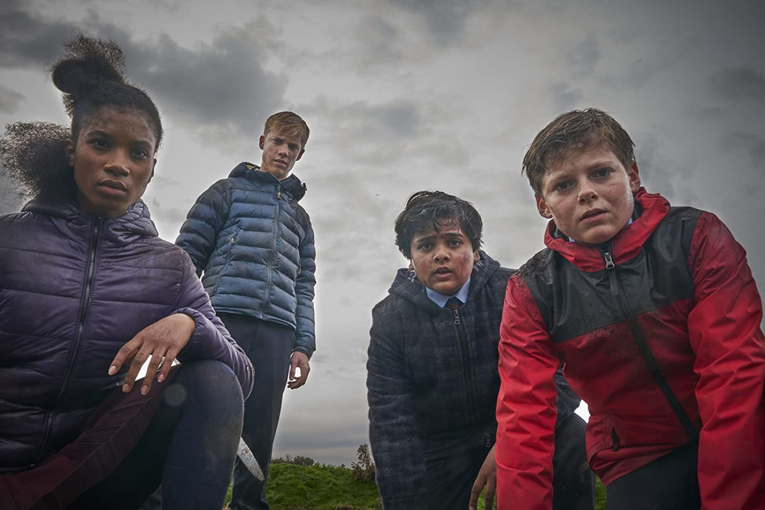 Louis Ashbourne Serkis, Tom Taylor, Rhianna Dorris, and Dean Chaumoo in The Kid Who Would Be King (2019)