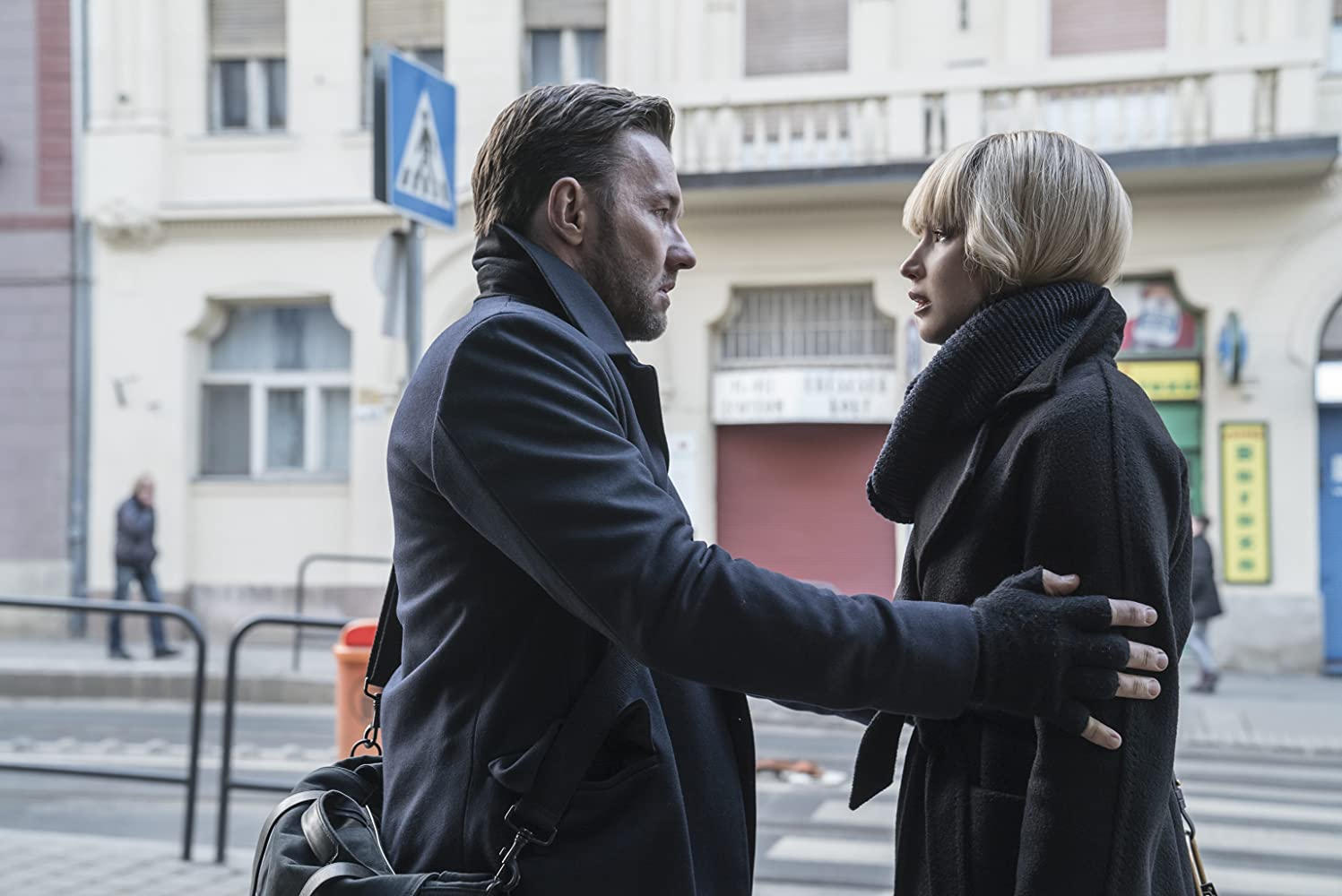 Joel Edgerton and Jennifer Lawrence in Red Sparrow (2018)