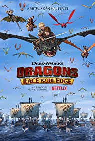 Jay Baruchel, America Ferrera, Christopher Mintz-Plasse, T.J. Miller, Andree Vermeulen, and Zack Pearlman in Dragons: Race to the Edge (2015)
