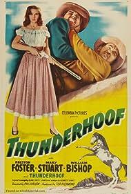 William Bishop, Dice, Preston Foster, and Mary Stuart in Thunderhoof (1948)