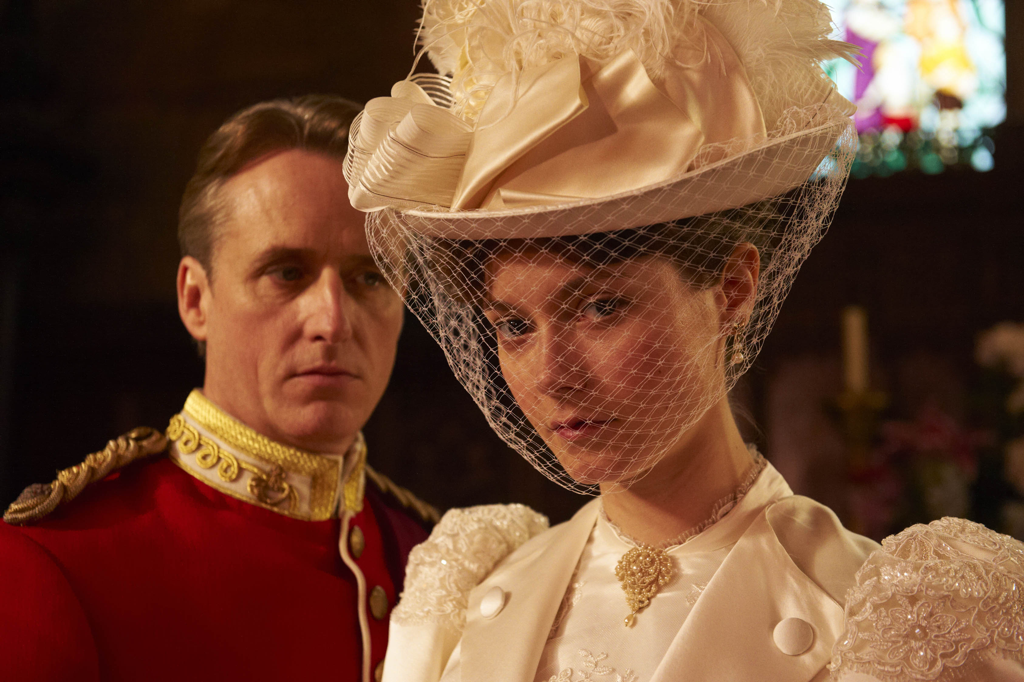 Linus Roache and Lydia Wilson in The Making of a Lady (2012)