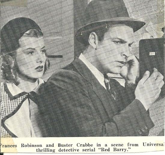 Buster Crabbe and Frances Robinson in Red Barry (1938)