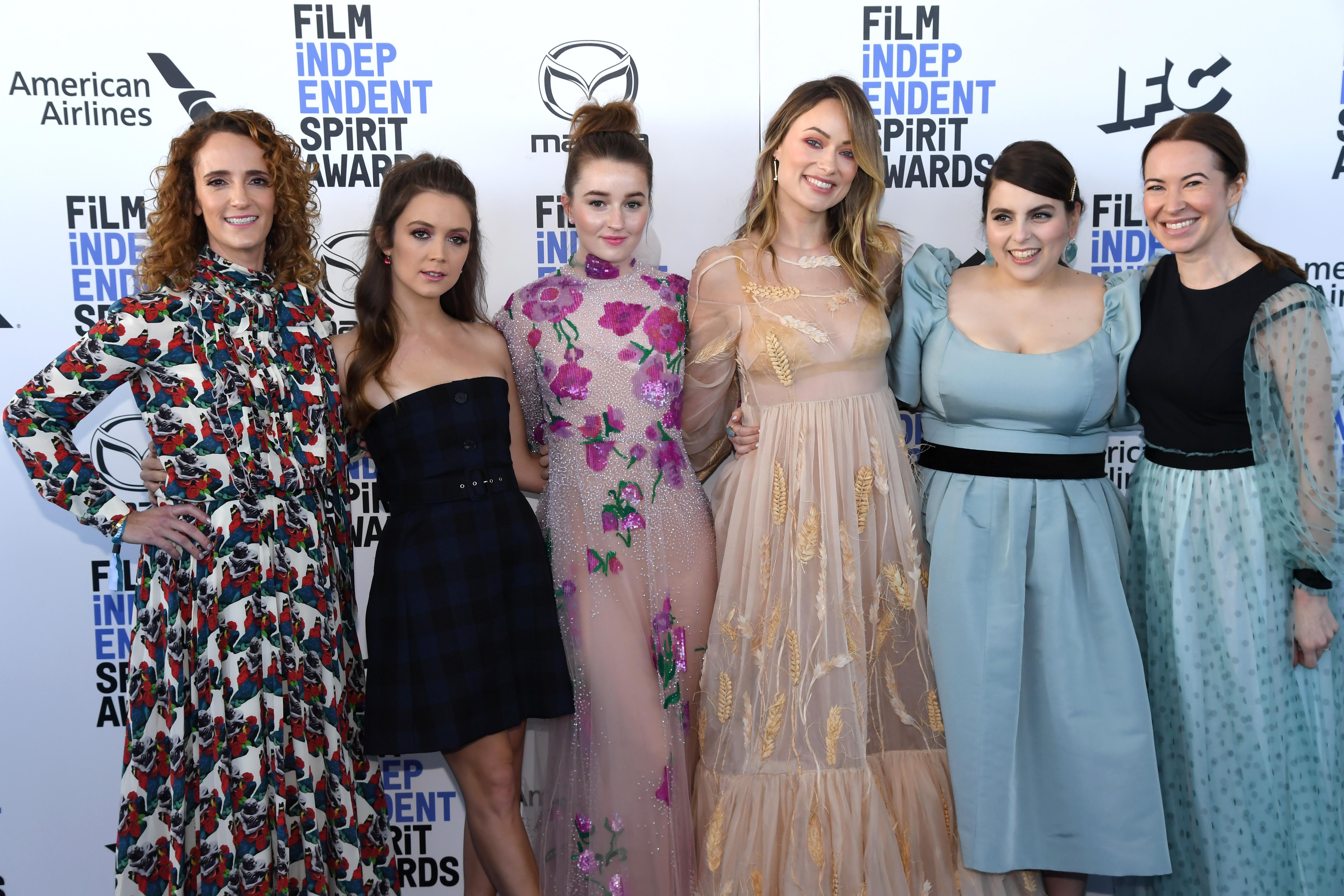 Olivia Wilde, Jessica Elbaum, Beanie Feldstein, Kaitlyn Dever, Katie Silberman, and Billie Lourd at an event for 35th Film Independent Spirit Awards (2020)
