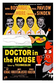 Dirk Bogarde, Donald Houston, Kenneth More, and Donald Sinden in Doctor in the House (1954)